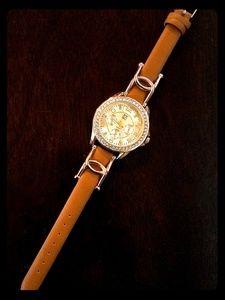 New York & Company Pave Twist Band Watch